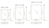 Transparant LED poster scherm 1280 x 960 mm_