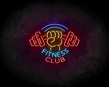 Fitness Club neon sign - LED Neon Reklame