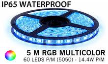 5M RGB 5050 LED strip 60LEDs p/m - IP68 - complete set